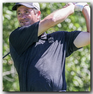 t070217 --- Clint Austin --- 070317.S.DNT.GOLF.C01 --- Gary Carlson of Duluth tees off during the Bill Law Nemadji Invitational Sunday in Superior. Carlson won the two-day tournament. (Clint Austin / caustin@duluthnews.com)