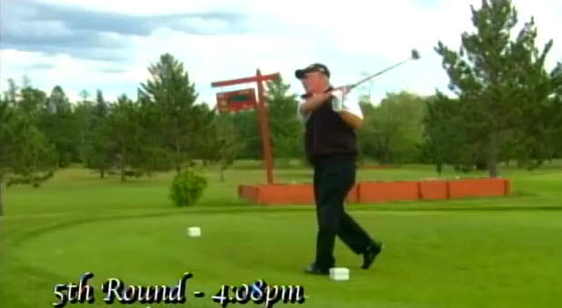World record golfer for rounds played teeing off the first tee on 5th round of the day