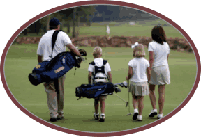 Family golf group