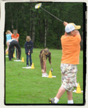 Junior golfers in Northern Minnesota