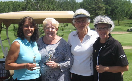 Fousome of lady golfers at a golf course in Northern Minnesota