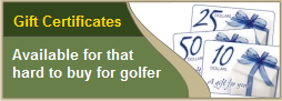 Golf pro shop gift certificate