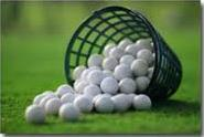 Bucket of golf balls