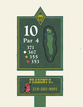 Minnesota golf course tee sign