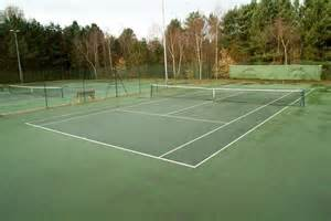 Tennis Courts at the golf course